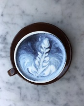 Blue matcha : made with almond milk, similar to regular matcha with an earthier taste.